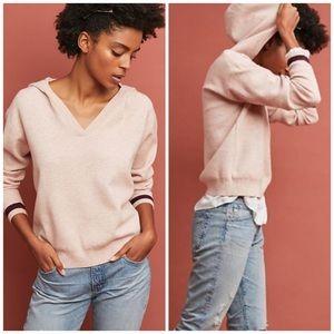 ANTHROPOLOGIE Seward Hooded Sweater Moth Pink